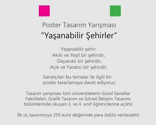poster yarışması